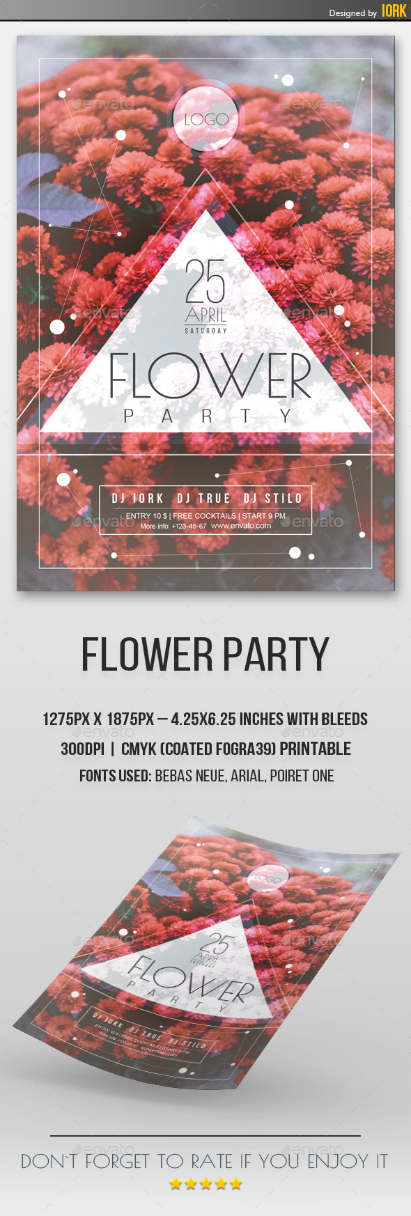 GraphicRiver Flower Party Flyer 11178306