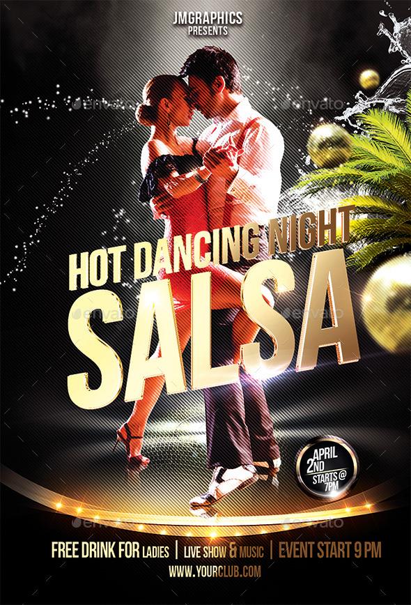 salsa flyer print template by ju maj
