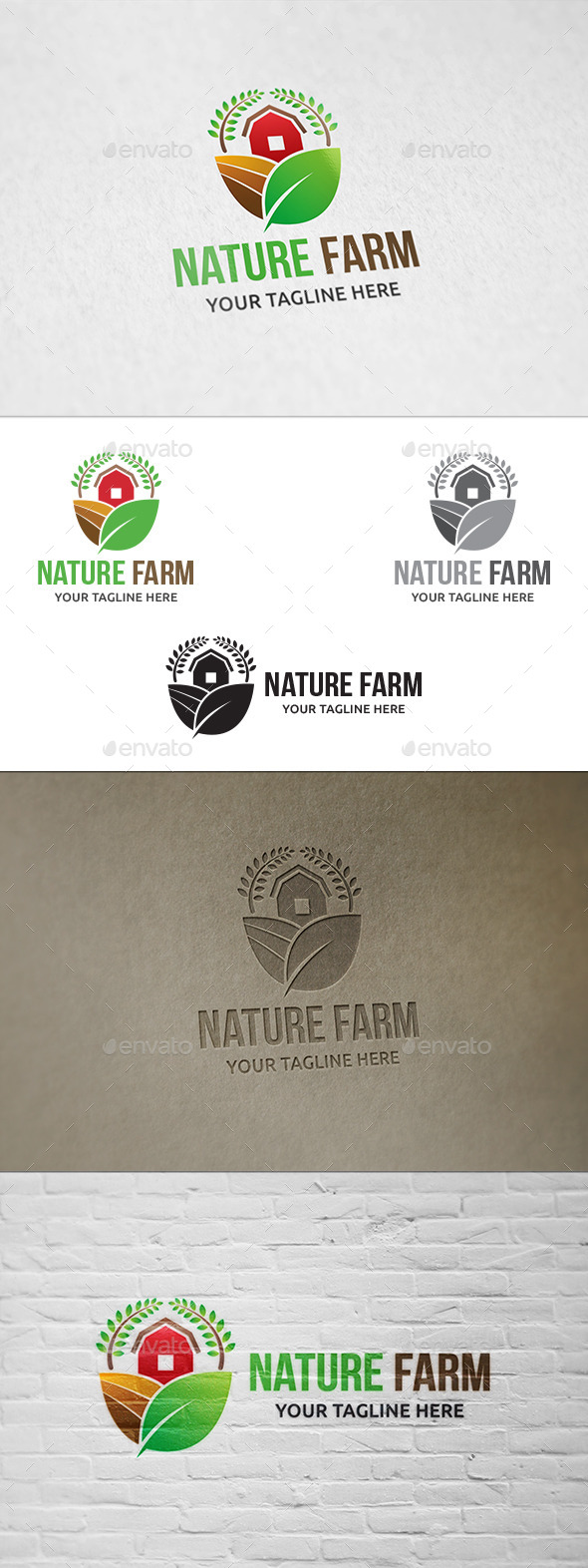 GraphicRiver Nature Farm Logo Template 11178336