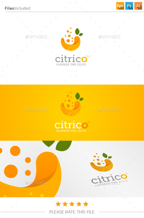 GraphicRiver Fresh Juice Logo 11178376