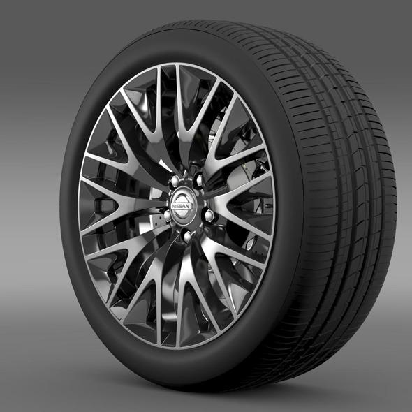 3DOcean Nissan Cima Hybrid wheel 11178379