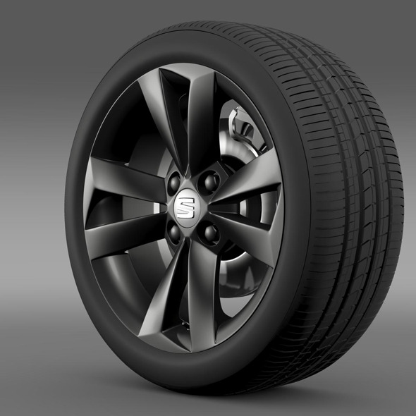 Seat Mii Vibora Negra wheel - 3DOcean Item for Sale