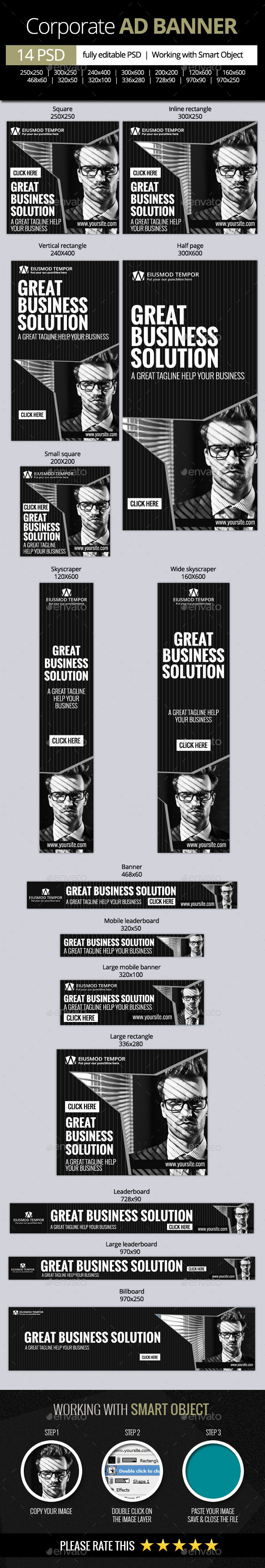 GraphicRiver Corporate and Business web banners 11178440