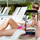 Person Hand Photographing Woman On Lounge Chair - PhotoDune Item for Sale