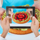 Person Hand Photographing Fruit Tart - PhotoDune Item for Sale