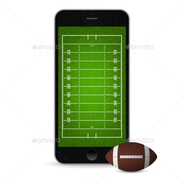 GraphicRiver Smartphone with Football and Field 11178724