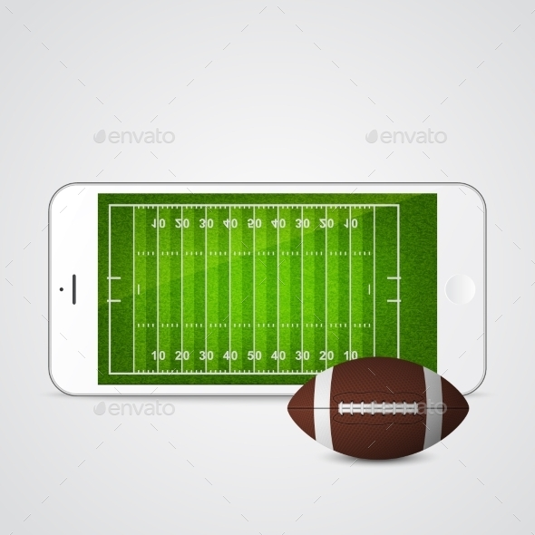 GraphicRiver Smartphone with Football and Field 11178733