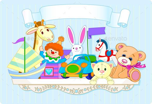 GraphicRiver Blue Toy Shelf 11178827