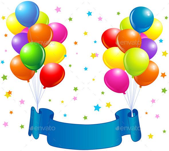 GraphicRiver Birthday Balloons Design 11178902