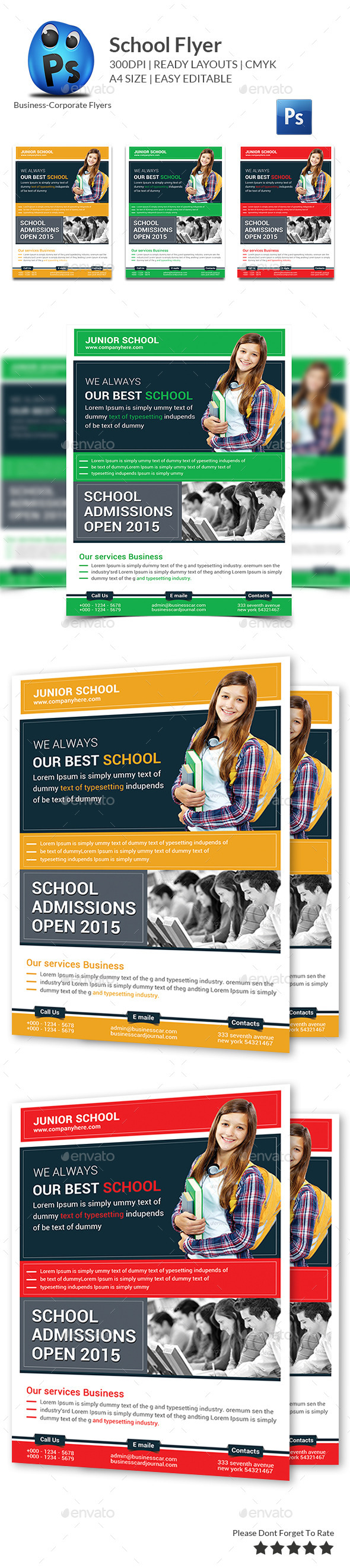 GraphicRiver Education Flyer Print Templates 11178903