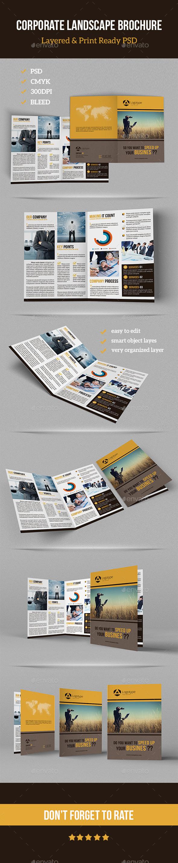 GraphicRiver Corporate Landscape Brochure 11179048