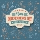 Retro Typography Independence Day Card - GraphicRiver Item for Sale