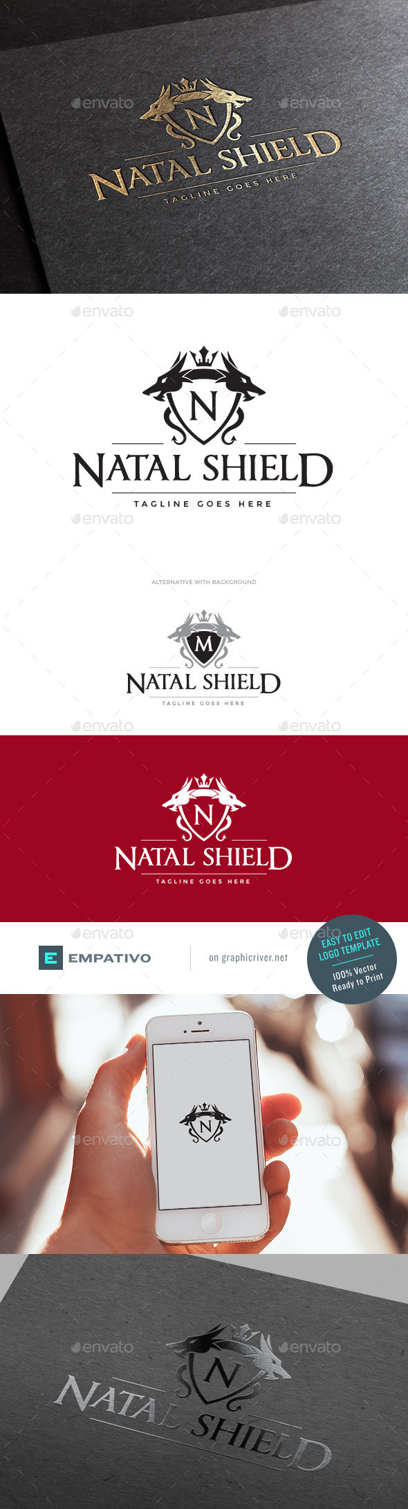 GraphicRiver Natal Shield Logo Template 11179245