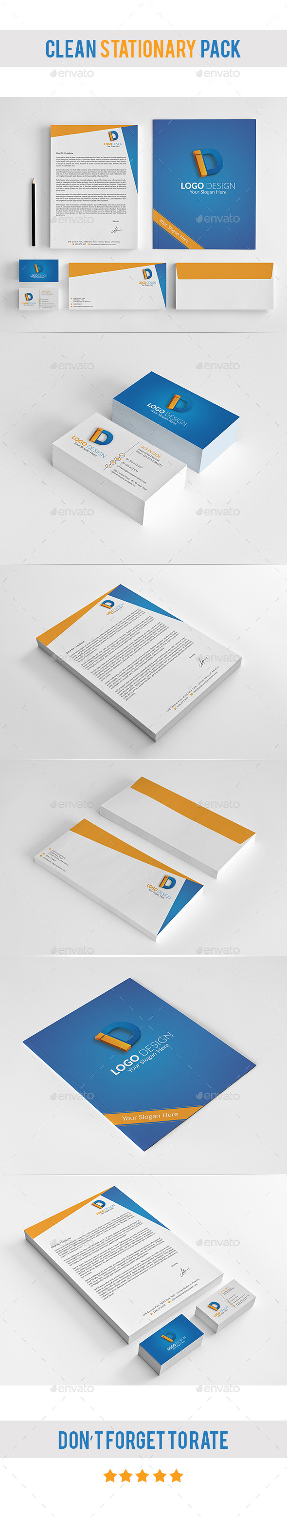 GraphicRiver Clean Stationary & Identity Templates PSD 11179251