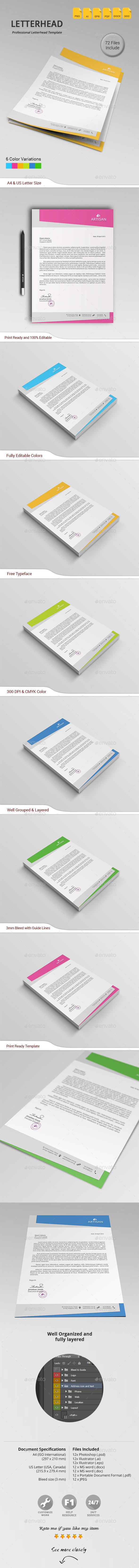 GraphicRiver Letterhead 11179526