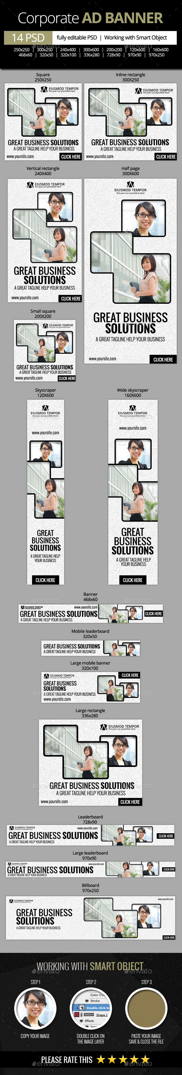 GraphicRiver Corporate and Business Web Banners 11179760