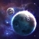 Space Background with Unknown Planet