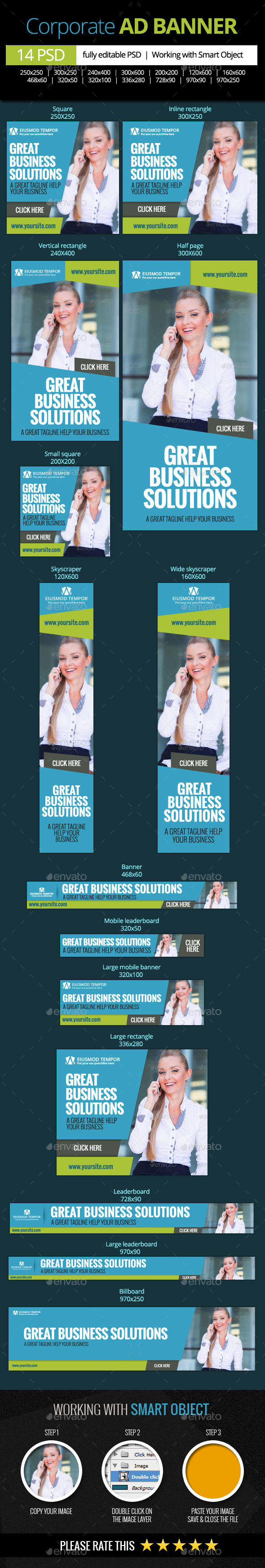 GraphicRiver Corporate and Business Web Banners 11179795