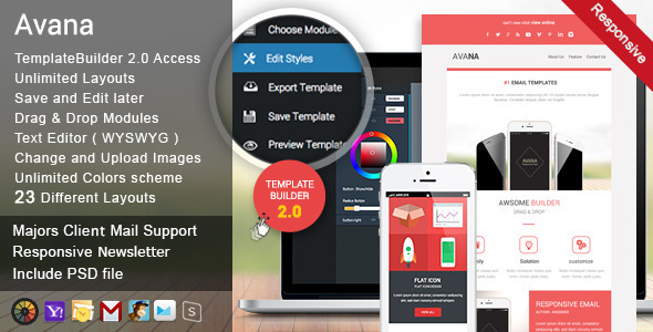 Avana - Responsive Email + MailBuild Online