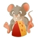 Mouse and Cheese - GraphicRiver Item for Sale
