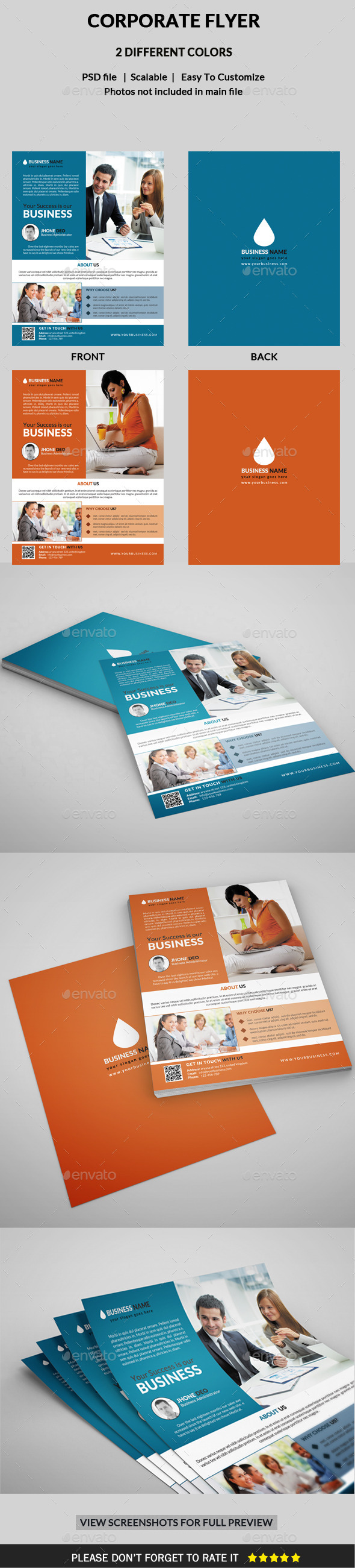 GraphicRiver Corporate Flyer 11180284
