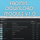 F-ADMIN DOWNLOAD MODULE - ActiveDen Item for Sale