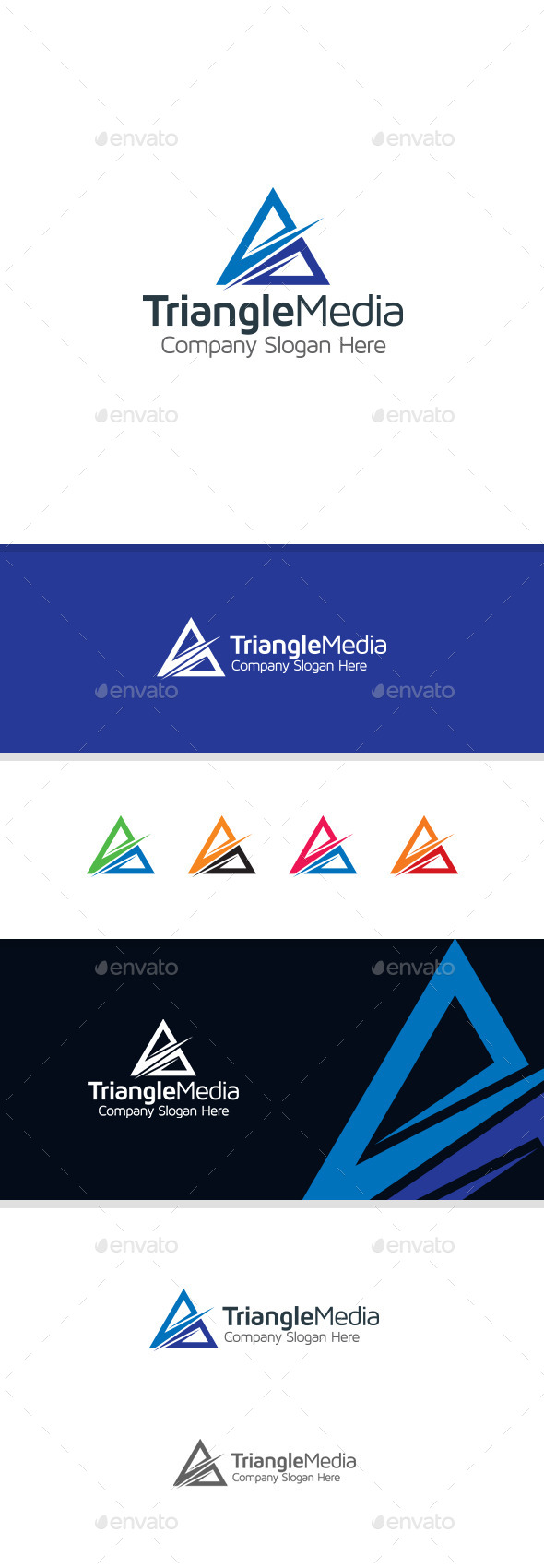GraphicRiver Triangle Media Logo 11180552
