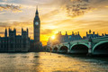 Famous Big Ben clock tower in London at sunset - PhotoDune Item for Sale