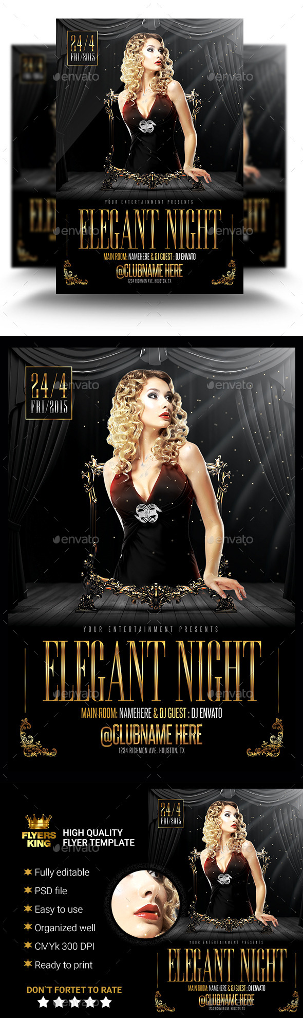 GraphicRiver Elegant Night Flyer Template 11181108
