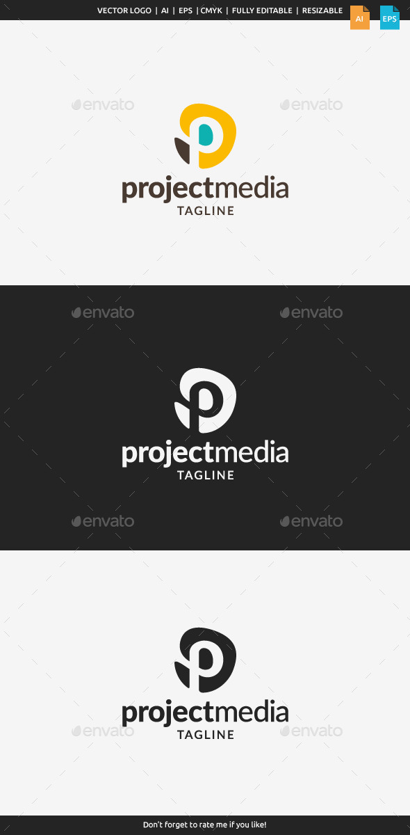 GraphicRiver Project Media Logo Letter P 11181490