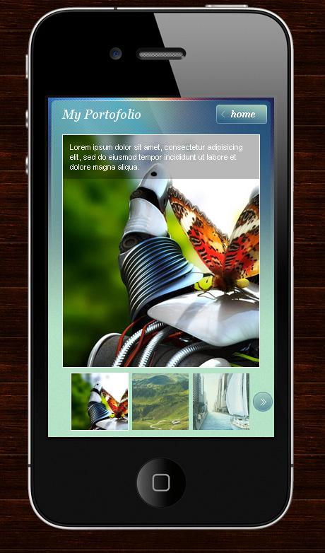 My Mobile Page Wordpress Theme -