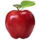 Photo-realistic isolated red apple - GraphicRiver Item for Sale