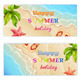 Set of Two Summer Vacation Banners - GraphicRiver Item for Sale