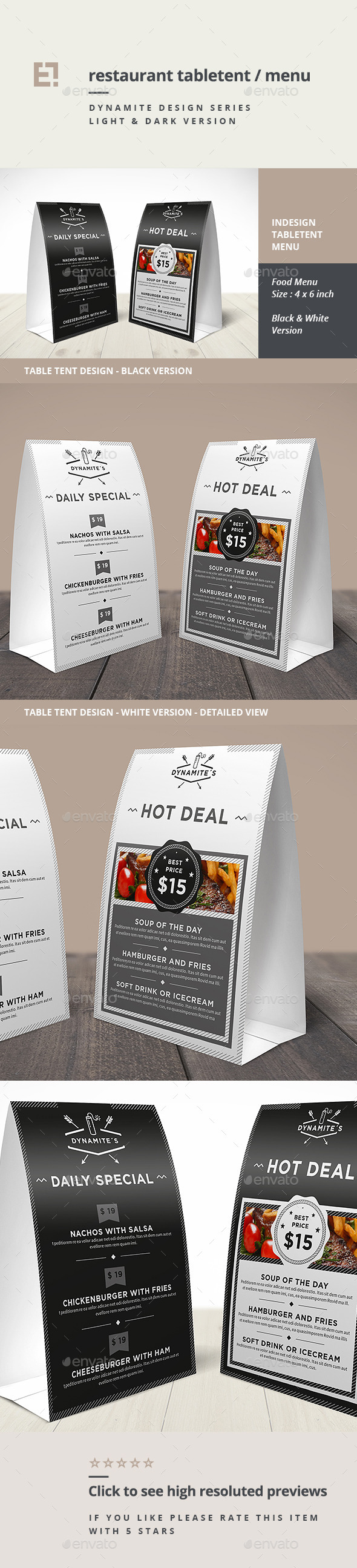 GraphicRiver Restaurant Table Tent 11181740