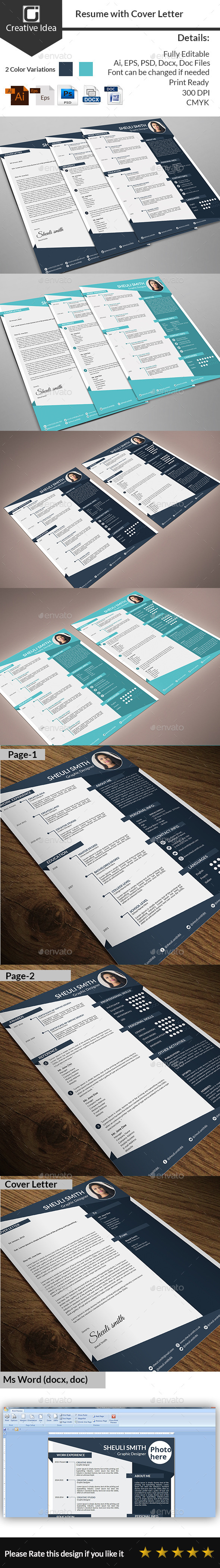 GraphicRiver CV Resume & Cover Letter 11181877