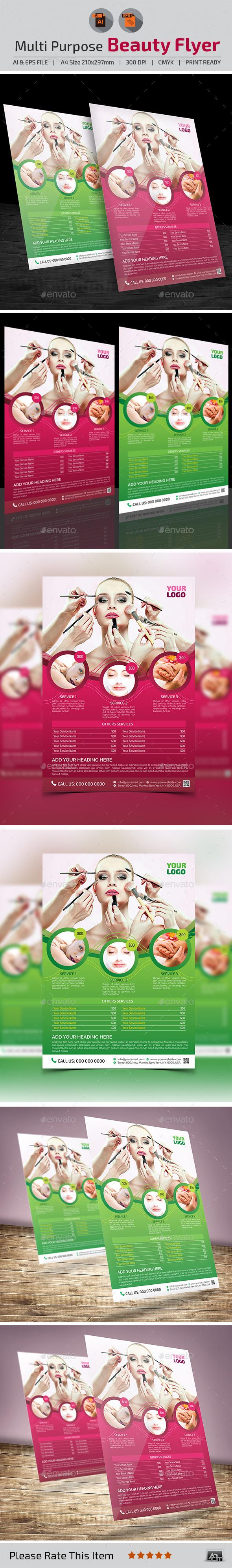 GraphicRiver Multi-Purpose Beauty Flyer 11181951