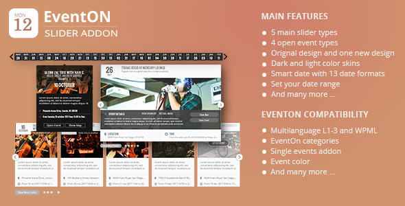 CodeCanyon EventOn Slider Addon 11063359