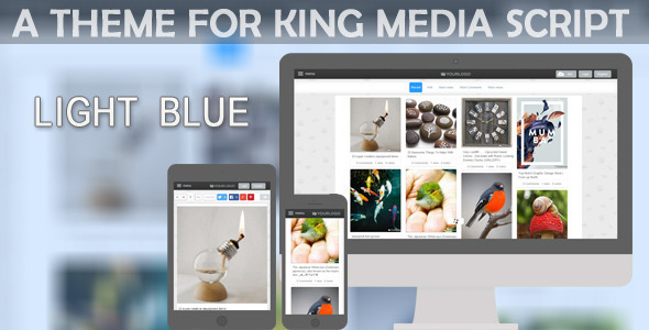 CodeCanyon LightBlue Theme For KingMedia Script 11168382