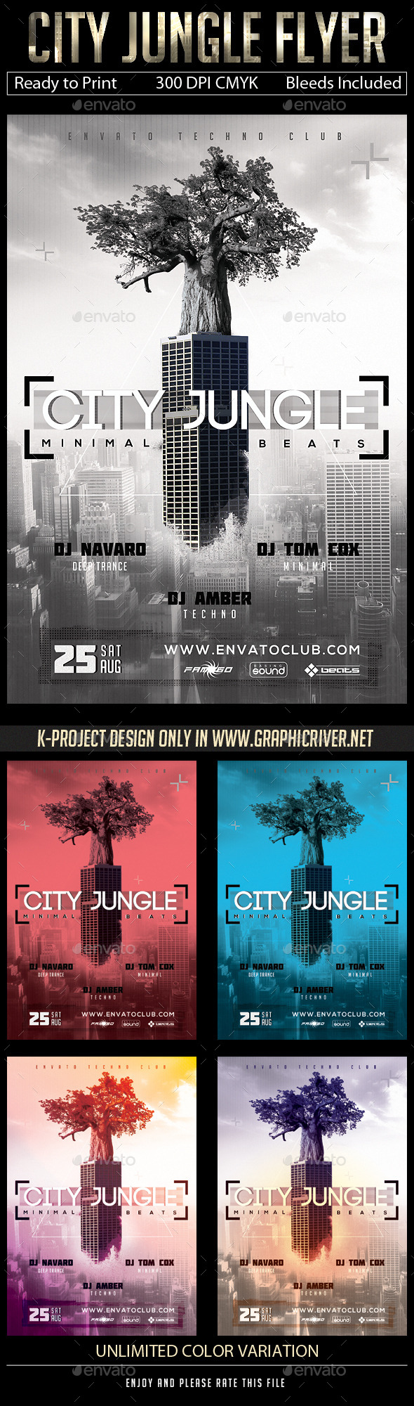 GraphicRiver City Jungle Flyer 11182246