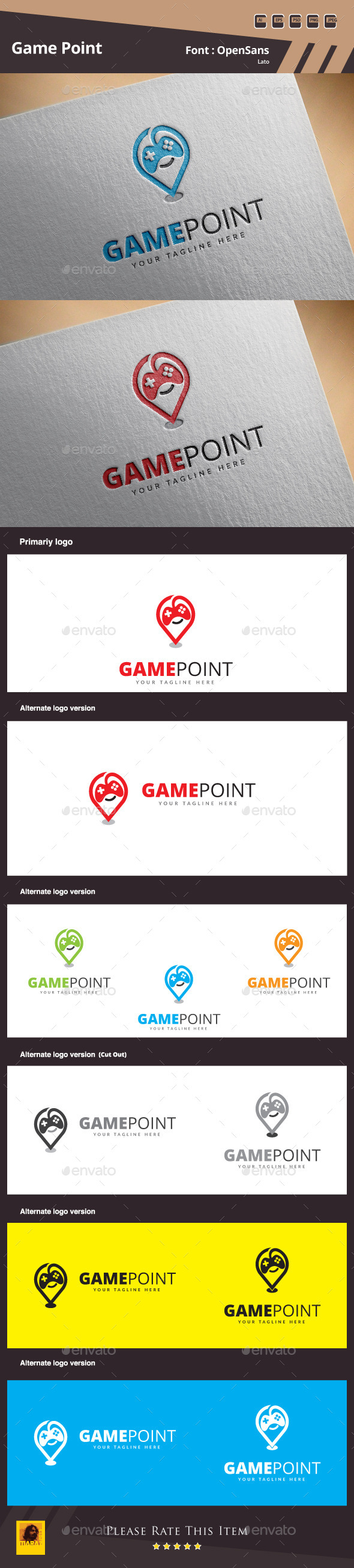 GraphicRiver Game Point Logo Template 11182320