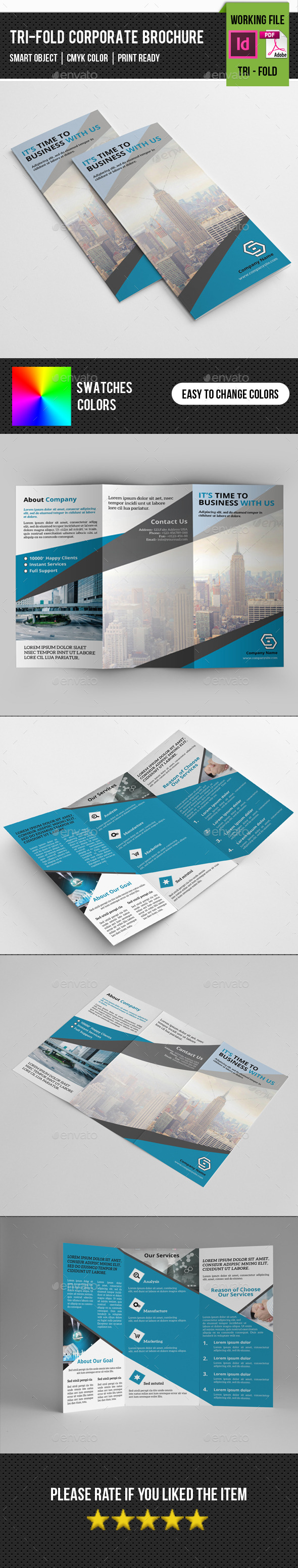 GraphicRiver Corporate Trifold Brochure-V231 11096266