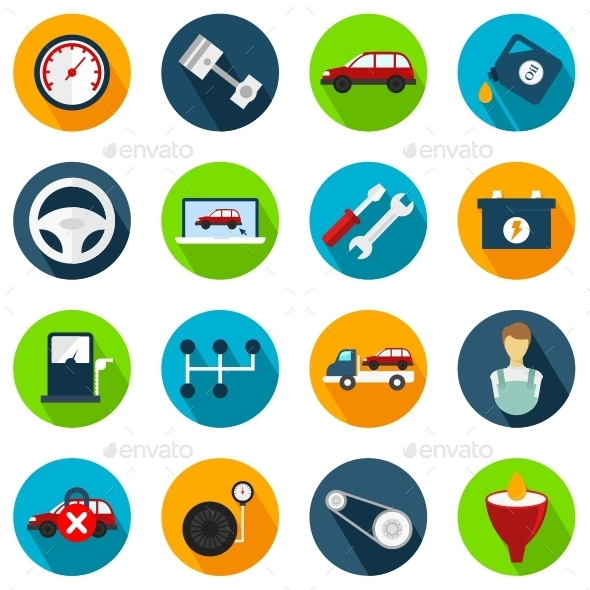 GraphicRiver Car Service Icons 11182421