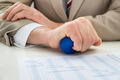 Businessperson Hand With Stressball - PhotoDune Item for Sale