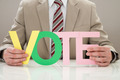 Businessperson With The Word Vote - PhotoDune Item for Sale