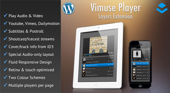 CodeCanyon Vimuse Media Player Layers Extension 11182629