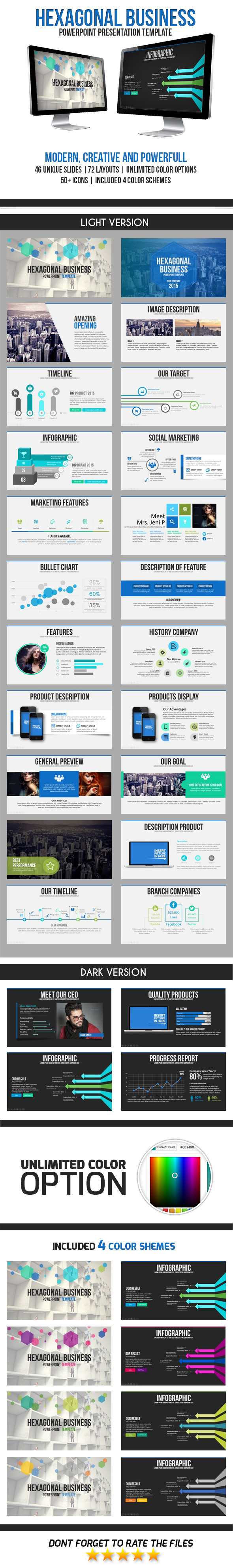 GraphicRiver Hexagon Business PowerPoint Template 11182665