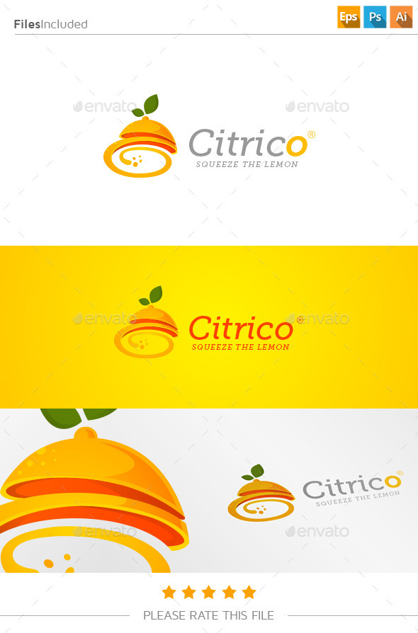 GraphicRiver Lemon Juice Logo 11182730