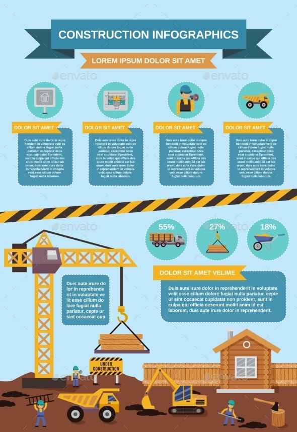 GraphicRiver Construction Infographics Set 11182940