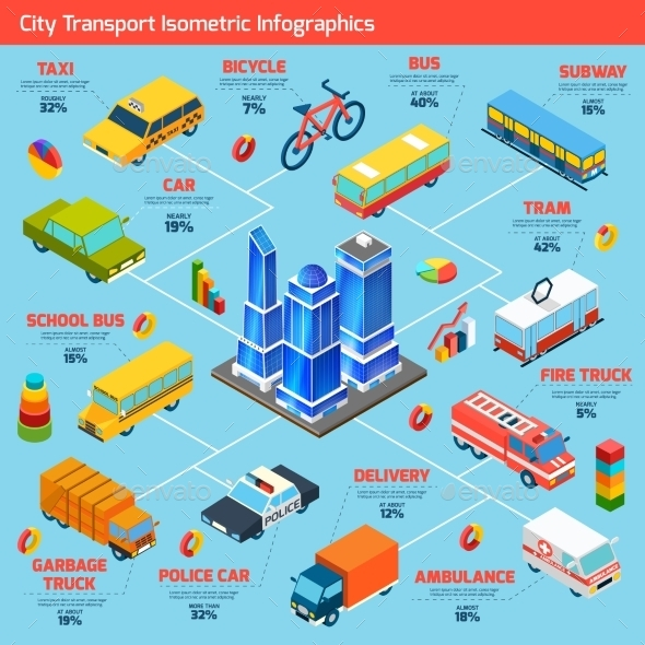 GraphicRiver Transport Isometric Flowchart 11182961