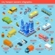 Transport Isometric Flowchart - GraphicRiver Item for Sale